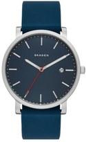 Skagen Hagen Round Silicone Strap Watch, 40mm