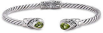 Samuel B. Sterling Silver Peridot Twisted Cable Bangle Bracelet