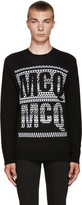 McQ by Alexander McQueen Black Jacquard Logo Sweater