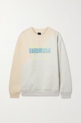 P.E Nation First Position Printed Organic Cotton-blend Jersey Sweatshirt