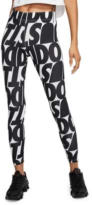 Nike Leg-A-See Printed Cotton-Blend Leggings