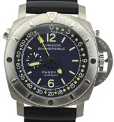 Panerai Luminor PAM307 Submersible Pangaea Depth Gauge 47mm Mens Watch