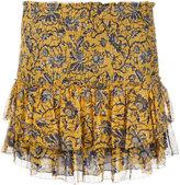 Etoile Isabel Marant bee print smocked miniskirt - women - Silk/Viscose - 36