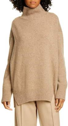 Vince Double Slit Cashmere Turtleneck Sweater