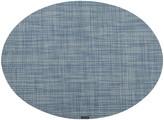 Chilewich Mini Basketweave Oval Placemat - Chambray