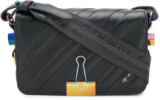 Off-White Diag Binder Clip crossbody bag