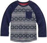 Arizona Long-Sleeve Printed Raglan Tee - Toddler Boys 2t-5t