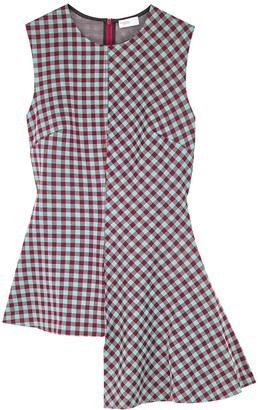 Rosetta Getty Gingham Asymmetric Stretch-knit Top