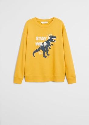 MANGO Printed organic cotton sweatshirt