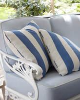 "Brown Jordan Stripe Outdoor Pillow, 18""Sq."