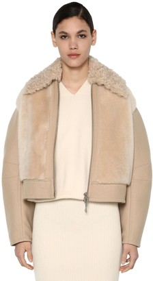 Sportmax Virgin Wool Blend & Shearling Jacket