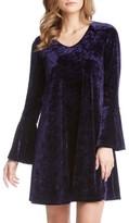 Karen Kane Women's Bell Sleeve Velvet Dress