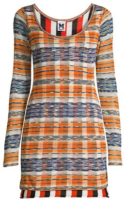 M Missoni Double Layer Plaid Mini Dress