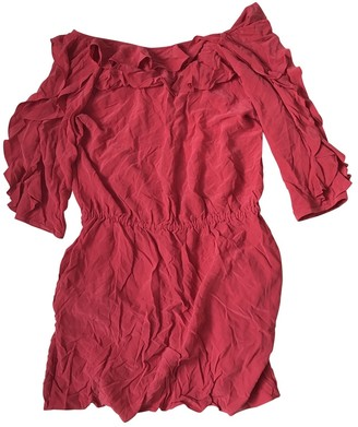Tibi Red Silk Dresses