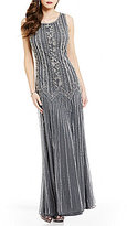 Pisarro Nights Beaded A-Line Sleeveless Gown