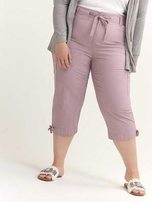 Woven Capri with Ribbing - d/C JEANS