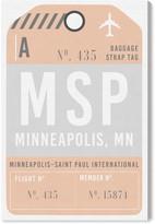 Oliver Gal Minneapolis Luggage Tag Wall Art