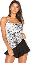 Equipment Layla Animal Print Cami in White. - size M (also in S,XS)