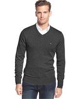 Tommy Hilfiger Big & Tall Men's Signature Solid V-Neck Sweater