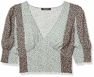 Sugar Lips Sugarlips Women's Daisy Print Mixed Crop TOP