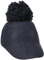 BCBGMAXAZRIA Women's Winter Pom Baseball Hat
