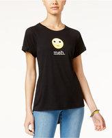 Freeze 24-7 Juniors' Meh Emoji High-Low Graphic T-Shirt