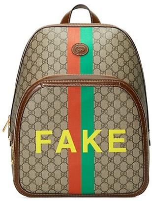 Gucci GG Supreme Fake/Not Medium Backpack