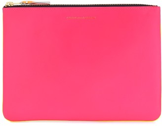 Comme des Garcons Super Fluo Large leather pouch