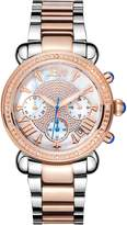 JBW JB-6210-N Women's Mother of Pearl Chronograph Diamond Watch