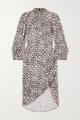 Alice + Olivia Jerilyn Ruffled Leopard-print Jacquard Dress