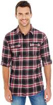 Burnside Yarn-Dyed Long Sleeve Flannel Shirt.B8210 Red / Black Buffalo