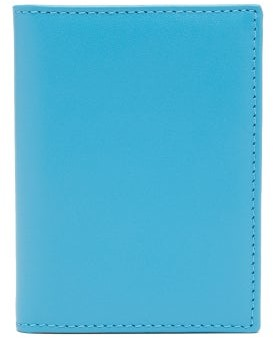 Comme des Garcons Bi-fold Leather Wallet - Blue