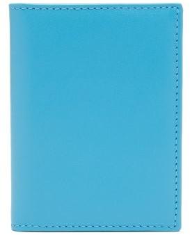 Comme des Garcons Bi-fold Leather Wallet - Womens - Blue