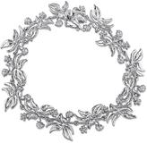 Laura Ashley Diamond Accented Sterling Silver Floral Nature Inspired Link Bracelet