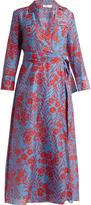 Diane von Furstenberg Point-collar cotton and silk-blend dress