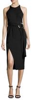 Style Stalker Maia Side Slit Belted Midi Dress