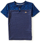 Lucky Brand Big Boys 8-20 Swell Printed/Solid Short-Sleeve Henley