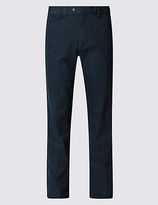 Blue Harbour Big & Tall Straight Cotton Rich Trousers
