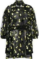 Simone Rocha organza flower embroidered trench