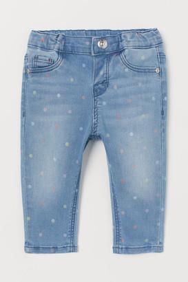H&M Patterned Jeans - Blue
