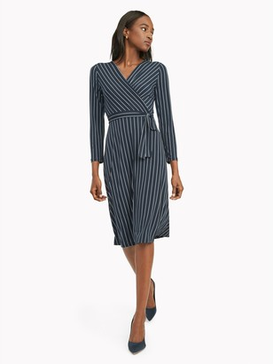 Tommy Hilfiger Essential Stripe Wrap Dress
