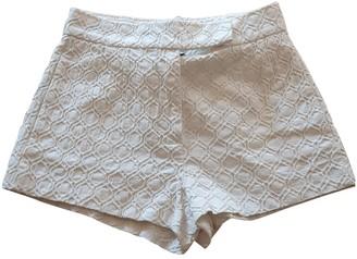 M Missoni White Cotton Shorts for Women