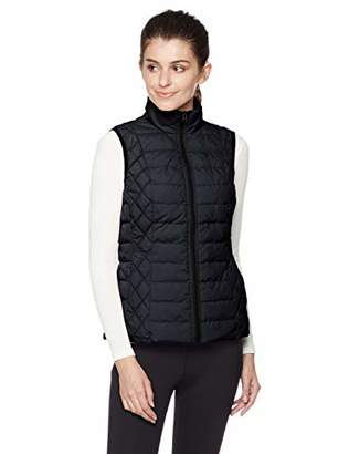 Otterline Women's Nylon Taffeta Regular-fit with Full Front Zip LTWT Polyfill Vest L