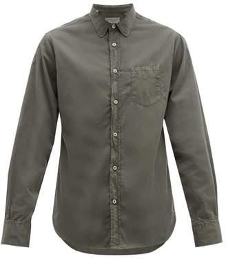 Officine Generale Lipp Cotton Shirt - Mens - Green