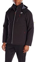 New Balance Men's Solid Soft Shell Systems Jacket with Inside Puffer Quilted Jacket