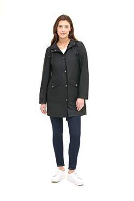 Levi's Women's Lightweight Rubberized PU Fishtail Rain Anorak Parka Jacket