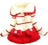 TRURENDI Baby Girls Kids Faux Fur Fleece Winter Warm Cotton Coat Jacket Outwear (#, )