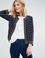 French Connection Madelaine Mosaic Embellished Trophy Jacket