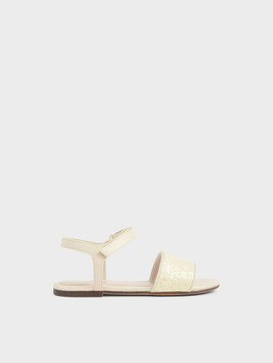 Charles & Keith Girls' Glitter Sandals