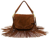 Polo Ralph Lauren Fringed Suede Saddle Bag